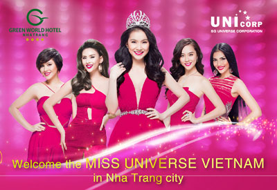 Promotion to welcome Miss Universe Vietnam 2015 at Green World Nha Trang Hotel