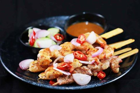 Thai Satay in Aqualine Bar of InterContinental Nha Trang