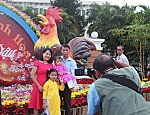 People in Nha Trang enjoy Lunar New Year