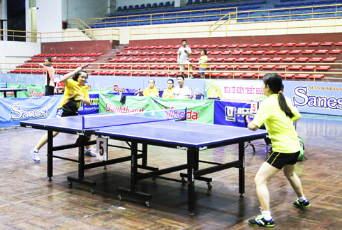 Useful movement playground for table-tennis players in Khanh Hoa