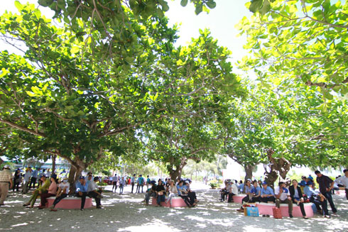 Many staffs of Khanh Hoa Salanganes Nest Company over the country gather on Hon Noi Island to join festival.