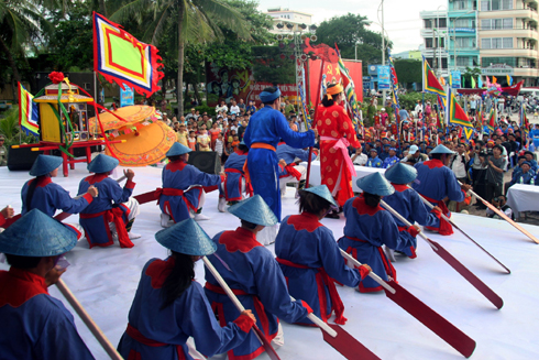Whale Worshipping Festival, typical cultural feature of coastal area.