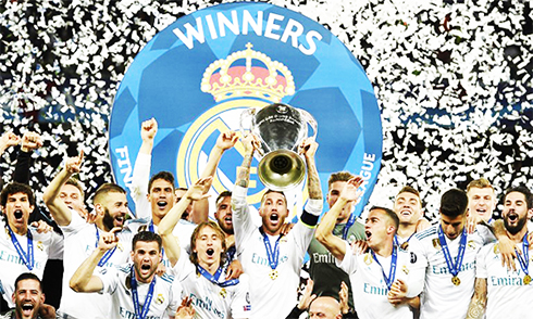 Real Madrid lập hat-trick Champions League