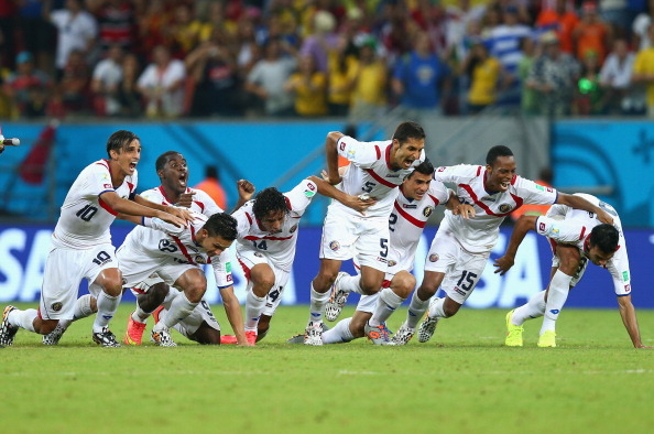 "<p style= ""text-align: justify; "">Costa Rica bất ngờ lọt vào tứ kết World Cup 2014</p>"