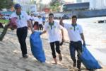 Over 100 volunteers join beach clean-up