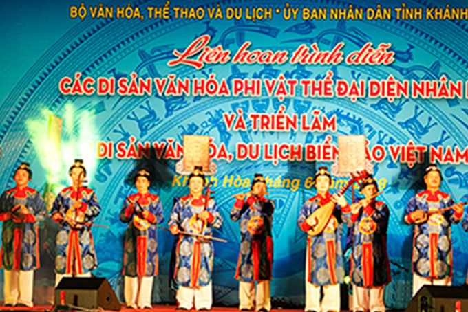 Numerous cuural heritages of Vietnam performed in Nha Trang