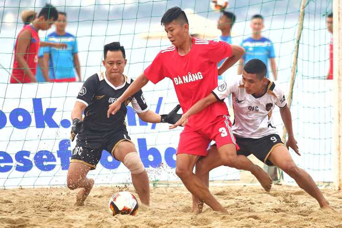 National beach football championship 2019 is played in Nha Trang
