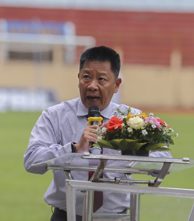Nguyen Minh Dat, deputy head of organization committee speaking at opening ceremony
