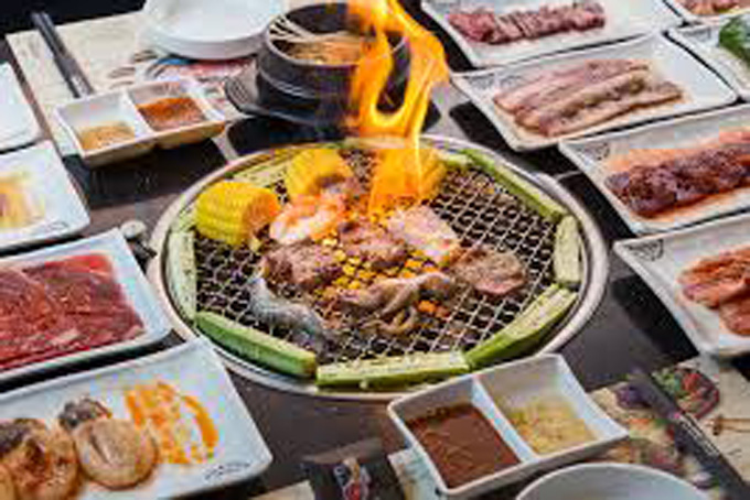 BBQ dinner buffet with 60 tasty dishes