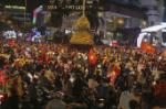 People in Nha Trang celebrate in the streets after SEA Games 30 football victory