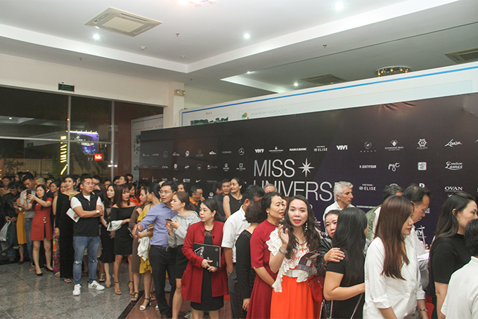 Audience queuing up to watch Miss Universe Vietnam 2019