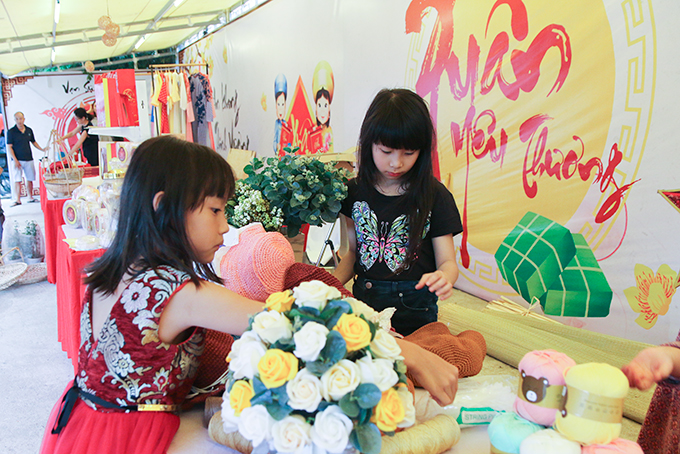 Children enjoy objects made of wool