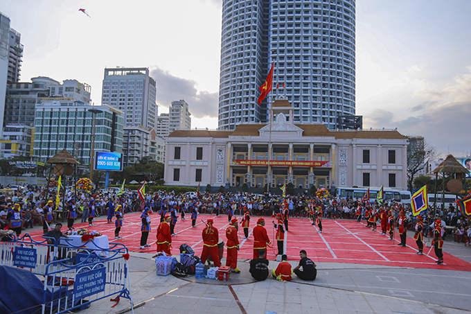 Human chess competition celebrating Tet 2020 in Nha Trang