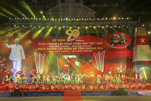 Art performance at Khanh Hoa Province's 2020 Lunar New Year video-conference