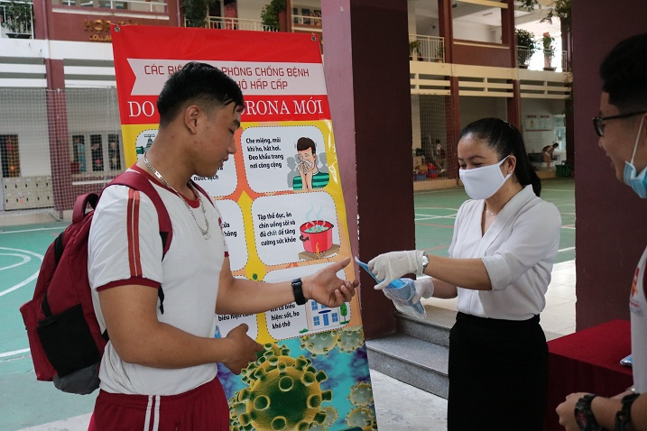 …and delivering masks to students