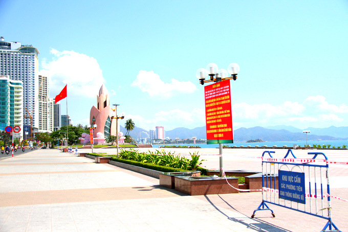 Nha Trang on first day of nationwide social distancing