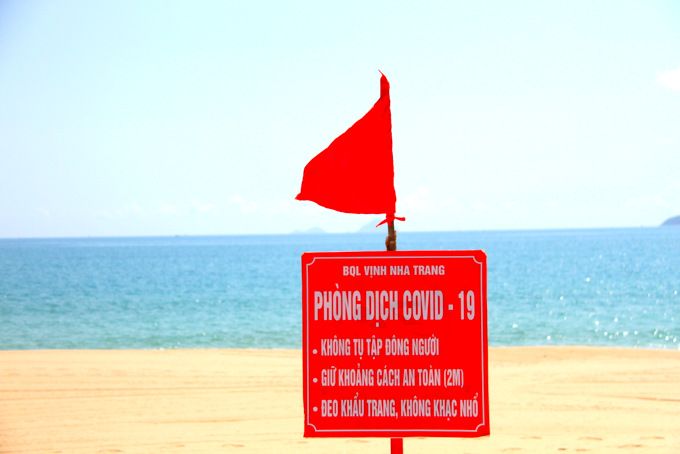 Warning sign about COVID-19