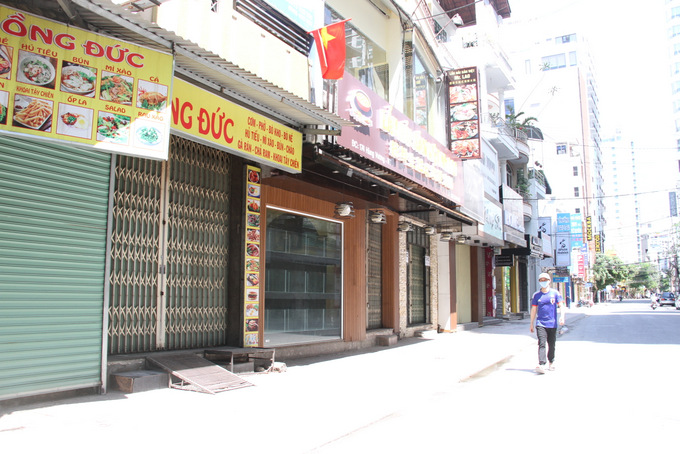 Shops and restaurants are closed