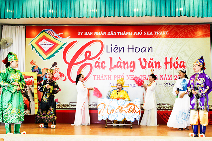 A festival for cultural villages in Nha Trang