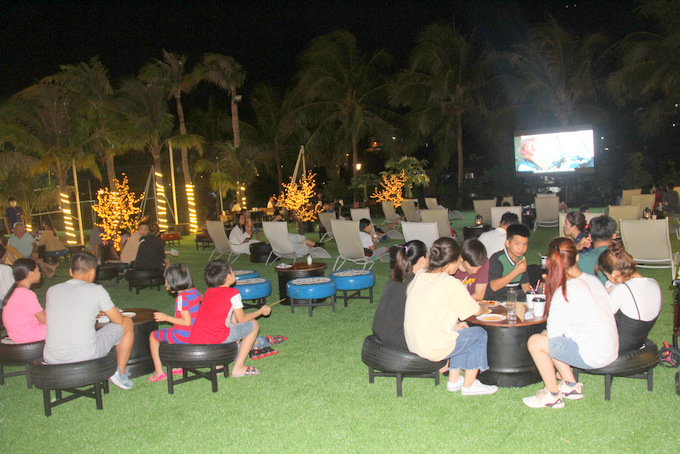 Outdoor cinema opens at Champa Island Nha Trang