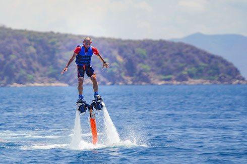 Experiencing Flyboard at Hon Tam with Eagle Camp team