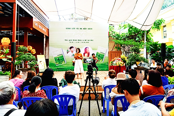 A young author's book launch held in Ho Chi Minh City