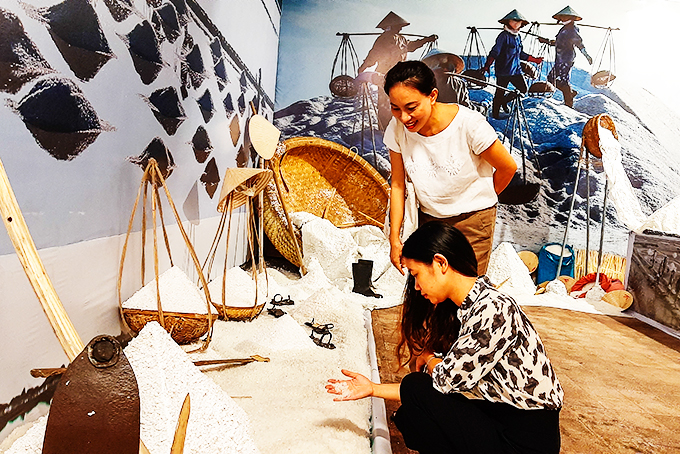 Exhibition section for salt producing industry at Khanh Hoa museum