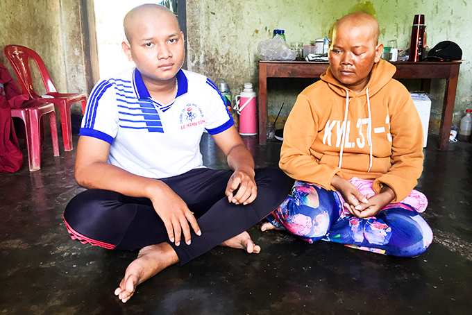 Mai and her son have been suffering from throat cancer