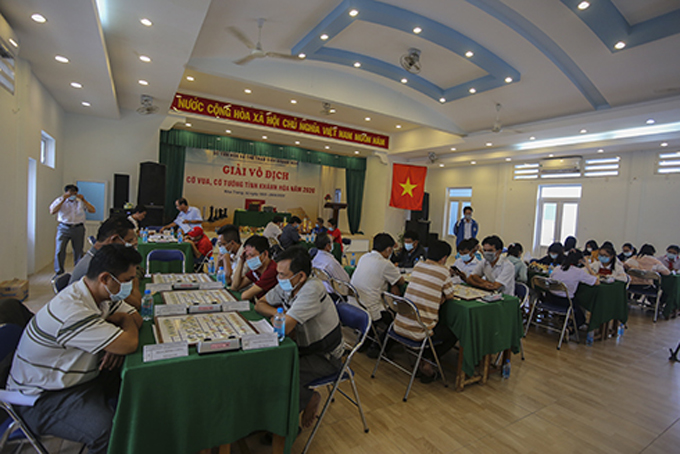 100 players join Khanh Hoa's chess and Chinese chess championships 2020