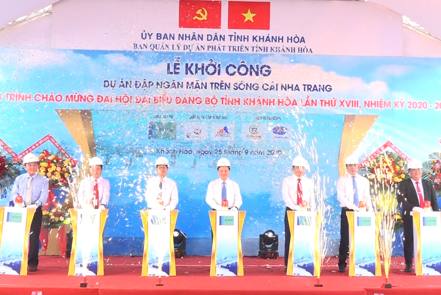 VIDEO: Construction starts on saltwater intrusion prevention dam over Cai River, Nha Trang