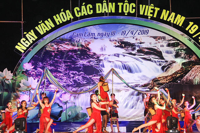 Cam Ranh's music team performing at Vietnamese Ethnic Groups' Cultural Day 2019