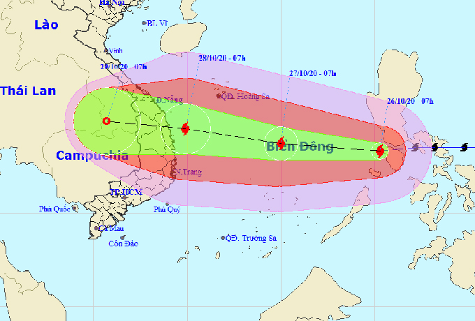 Typhoon Molave landfall warning