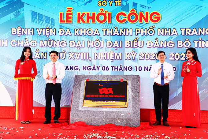 Ground breaking ceremony for Nha Trang City General Hospital was organized at My Gia Urban Area (Vinh Thai Commune, Nha Trang City) on October 6. The 200-bed hospital has an area of over 15,300m2 and a total cost of more than VND355 billion, expected to be put into service by the end of 2022.