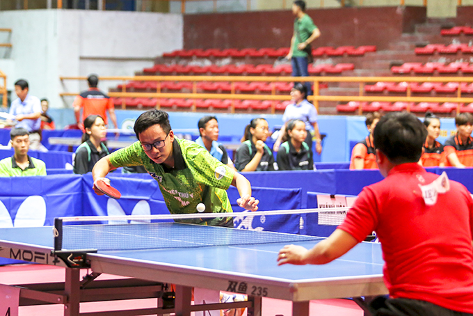 Excellent athlete of Hai Duong Province, Nguyen Xuan Hien, is playing for Khanh Hoa