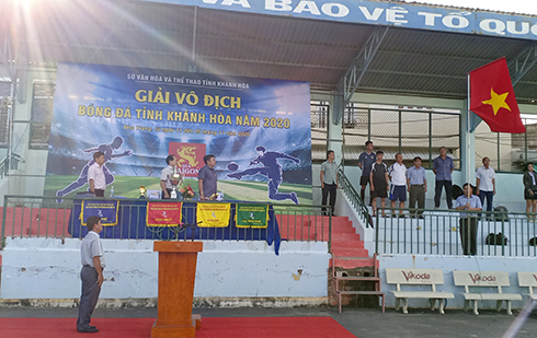 Khanh Hoa Province's football championship 2020 kicked off at Nha Trang Sports Training and Competition Center on November 16.