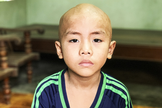 7-year-old boy with malignant brain tumor