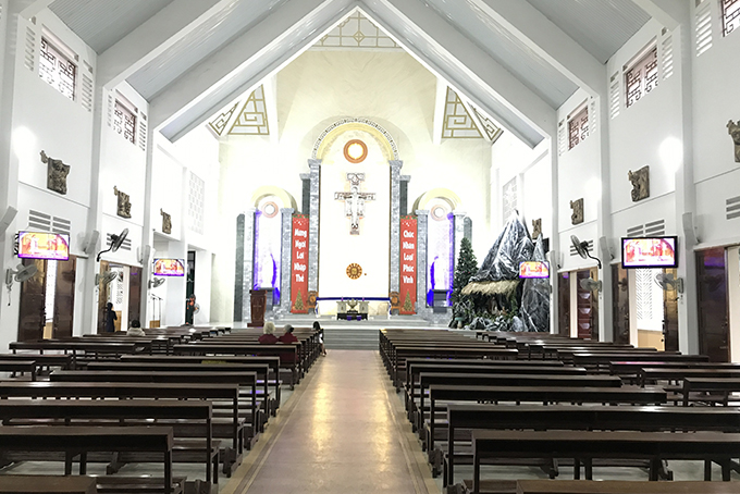 Religious services will be held inside churches