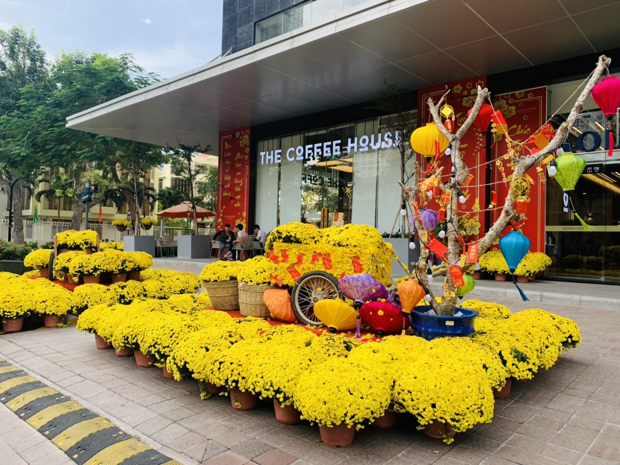 Lunar New Year decorations on Ly Tu Trong Street