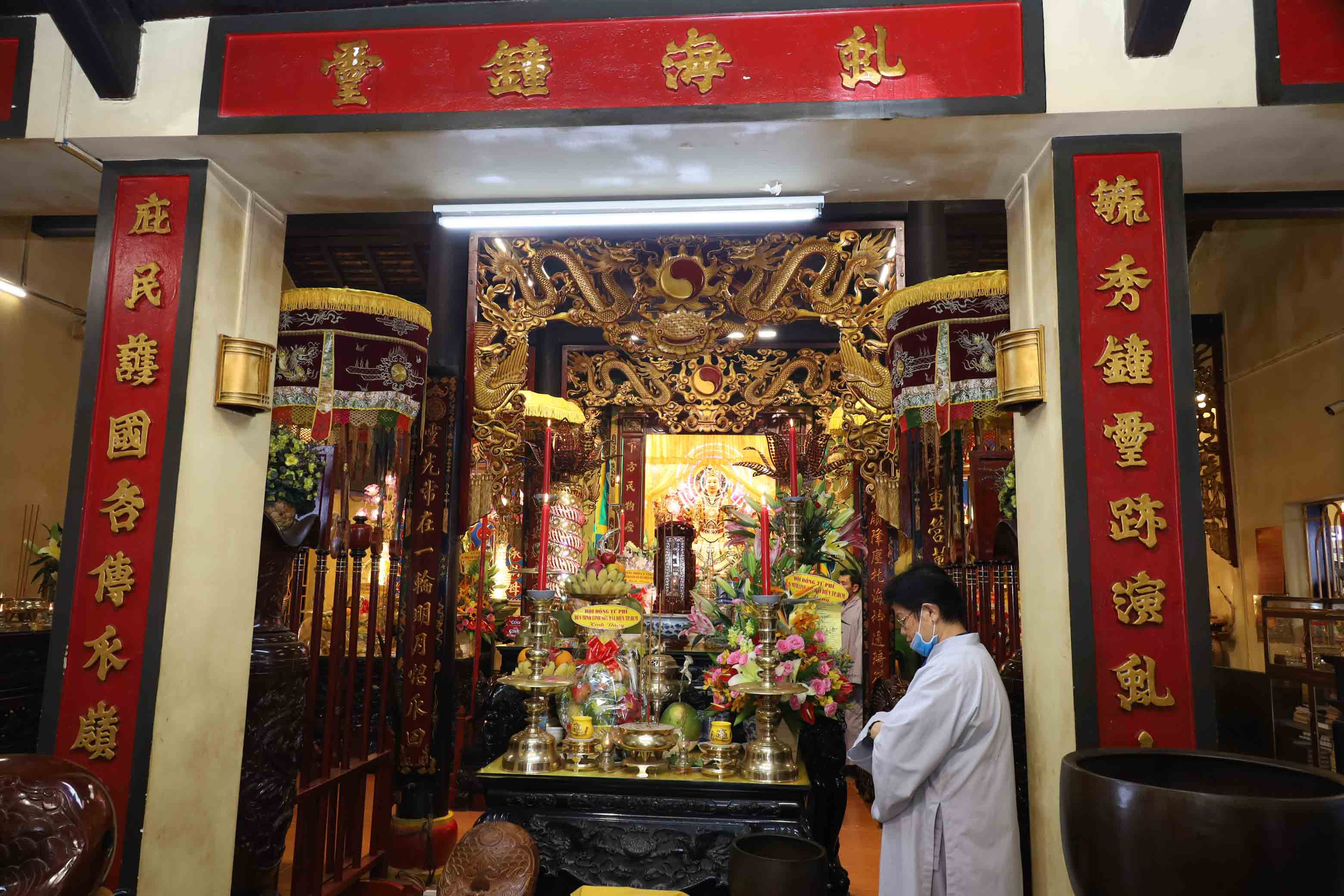 Inside Thien Y Ana Holy Mother worshipping temple