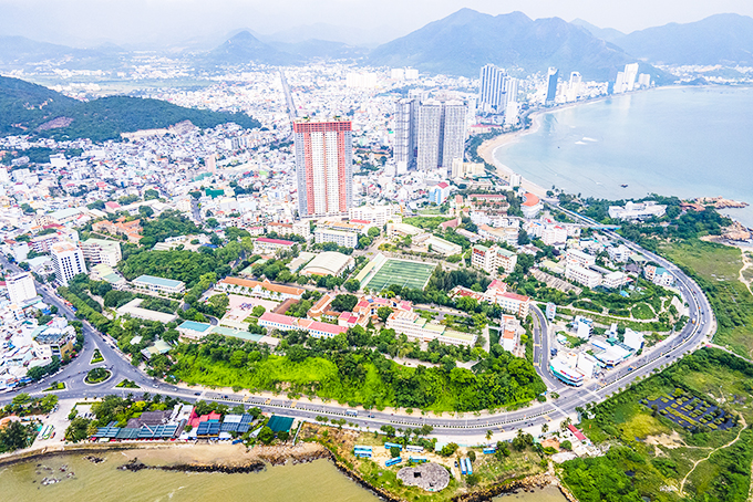 A view of Nha Trang from above